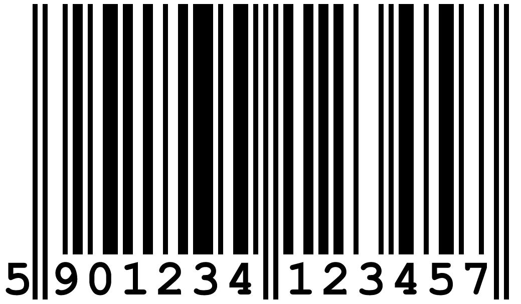Пример штрих-кода EAN13