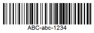 Образец штрих-кода Code 128